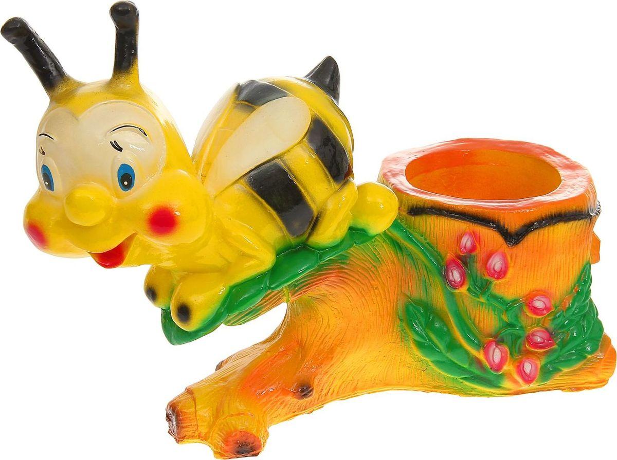 Фигура садовая Пчела на пне, с кашпо, 57 х 21 х 40 см1160670