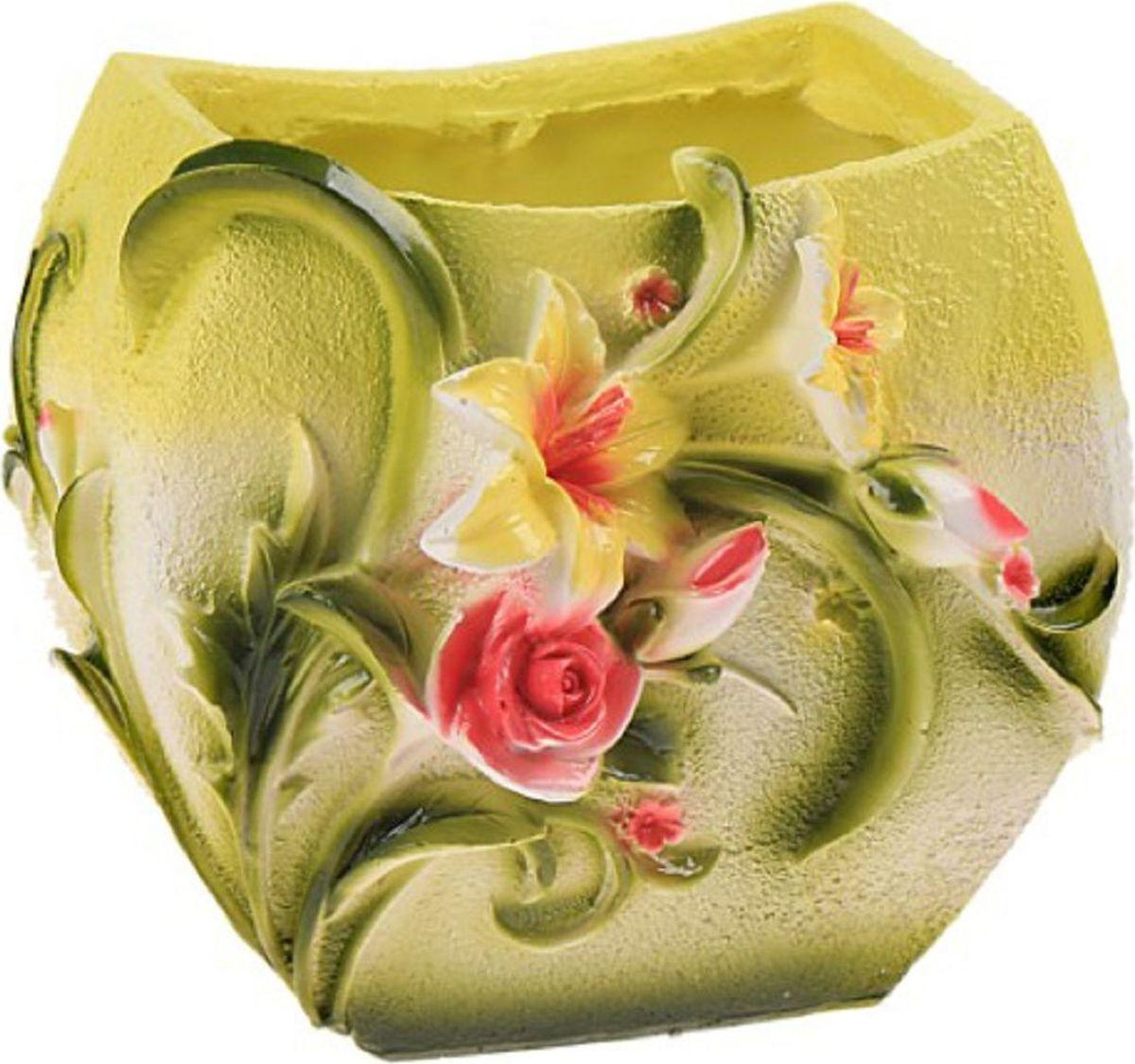 Кашпо Цветы, 17 х 18 х 15 см493139Комнатные растения — всеобщие любимцы. Они радуют глаз, насыщают помещение кислородом и украшают пространство. Каждому из растений необходим свой удобный и красивый дом. Поселите зелёного питомца в яркое и оригинальное фигурное кашпо. Выберите подходящую форму для детской, спальни, гостиной, балкона, офиса или террасы. #name# позаботится о растении, украсит окружающее пространство и подчеркнёт его оригинальный стиль.