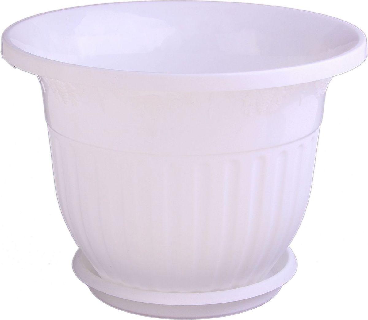 Кашпо Альтернатива Лозанна, с поддоном, цвет: белый, 7 л577793Любой, даже самый современный и продуманный интерьер будет не завершённым без растений. Они не только очищают воздух и насыщают его кислородом, но и заметно украшают окружающее пространство. Такому полезному &laquo члену семьи&raquoпросто необходимо красивое и функциональное кашпо, оригинальный горшок или необычная ваза! Мы предлагаем - Горшок-кашпо 7 л Лозанна, поддон, цвет белый!Оптимальный выбор материала &mdash &nbsp пластмасса! Почему мы так считаем? Малый вес. С лёгкостью переносите горшки и кашпо с места на место, ставьте их на столики или полки, подвешивайте под потолок, не беспокоясь о нагрузке. Простота ухода. Пластиковые изделия не нуждаются в специальных условиях хранения. Их&nbsp легко чистить &mdashдостаточно просто сполоснуть тёплой водой. Никаких царапин. Пластиковые кашпо не царапают и не загрязняют поверхности, на которых стоят. Пластик дольше хранит влагу, а значит &mdashрастение реже нуждается в поливе. Пластмасса не пропускает воздух &mdashкорневой системе растения не грозят резкие перепады температур. Огромный выбор форм, декора и расцветок &mdashвы без труда подберёте что-то, что идеально впишется в уже существующий интерьер.Соблюдая нехитрые правила ухода, вы можете заметно продлить срок службы горшков, вазонов и кашпо из пластика: всегда учитывайте размер кроны и корневой системы растения (при разрастании большое растение способно повредить маленький горшок)берегите изделие от воздействия прямых солнечных лучей, чтобы кашпо и горшки не выцветалидержите кашпо и горшки из пластика подальше от нагревающихся поверхностей.Создавайте прекрасные цветочные композиции, выращивайте рассаду или необычные растения, а низкие цены позволят вам не ограничивать себя в выборе.