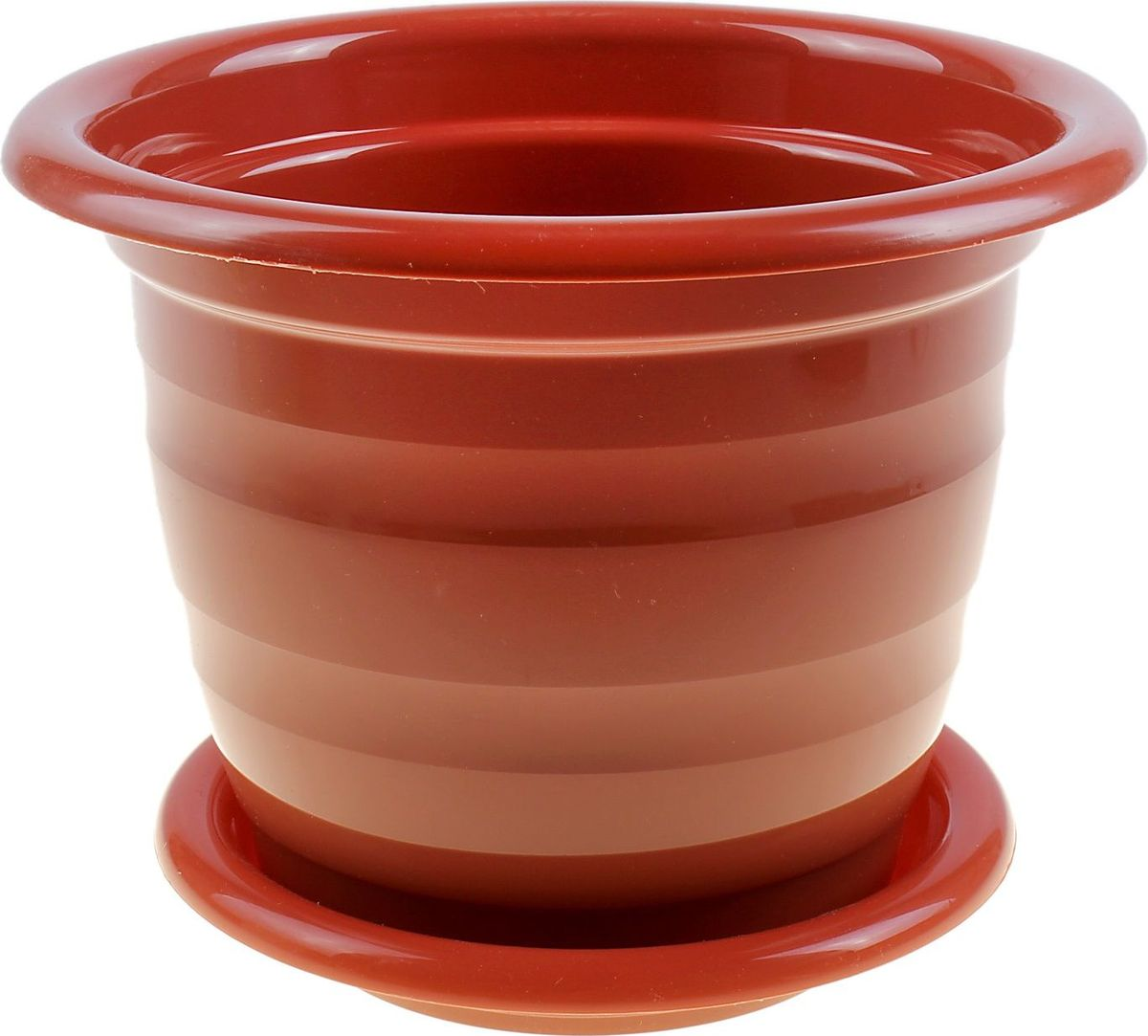Горшок для цветов Альтернатива Виола, с поддоном, цвет: коричневый, 1 л631661Горшок для цветов Альтернатива Виола изготовлен из качественного пластика и оснащен поддоном для стока воды. Изделие прекрасно подойдет для выращивания растений дома и на приусадебных участках. Размеры изделия: 15,5 х 15,5 х 12,5 см.