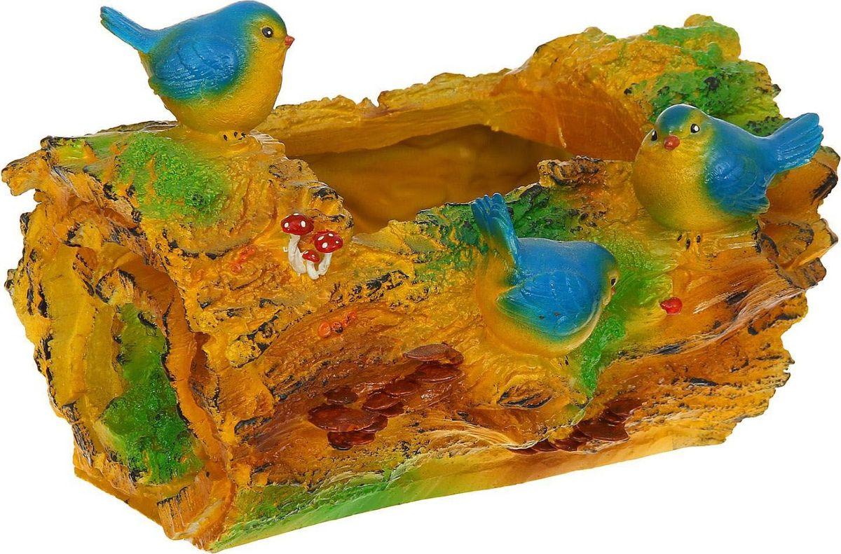 Кашпо Три птички, 25 х 36 х 25 см739125Комнатные растения — всеобщие любимцы. Они радуют глаз, насыщают помещение кислородом и украшают пространство. Каждому из растений необходим свой удобный и красивый дом. Поселите зелёного питомца в яркое и оригинальное фигурное кашпо. Выберите подходящую форму для детской, спальни, гостиной, балкона, офиса или террасы. #name# позаботится о растении, украсит окружающее пространство и подчеркнёт его оригинальный стиль.