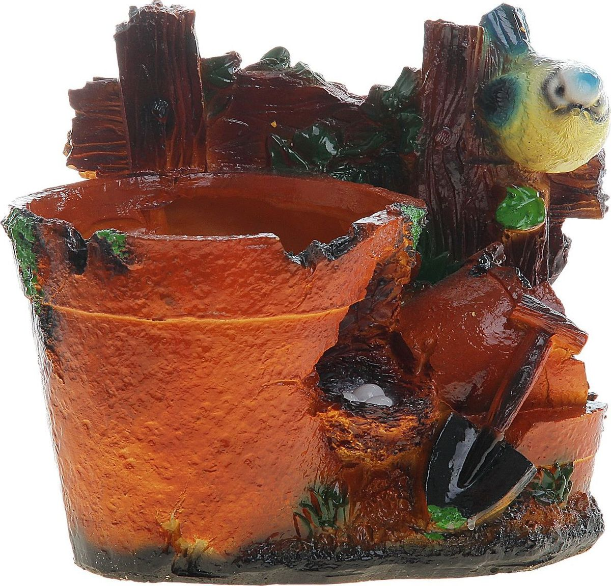 Кашпо Синичка на заборе, 22 х 15 х 20 см780566Комнатные растения — всеобщие любимцы. Они радуют глаз, насыщают помещение кислородом и украшают пространство. Каждому из растений необходим свой удобный и красивый дом. Поселите зеленого питомца в яркое и оригинальное фигурное кашпо. Выберите подходящую форму для детской, спальни, гостиной, балкона, офиса или террасы. позаботится о растении, украсит окружающее пространство и подчеркнет его оригинальный стиль.