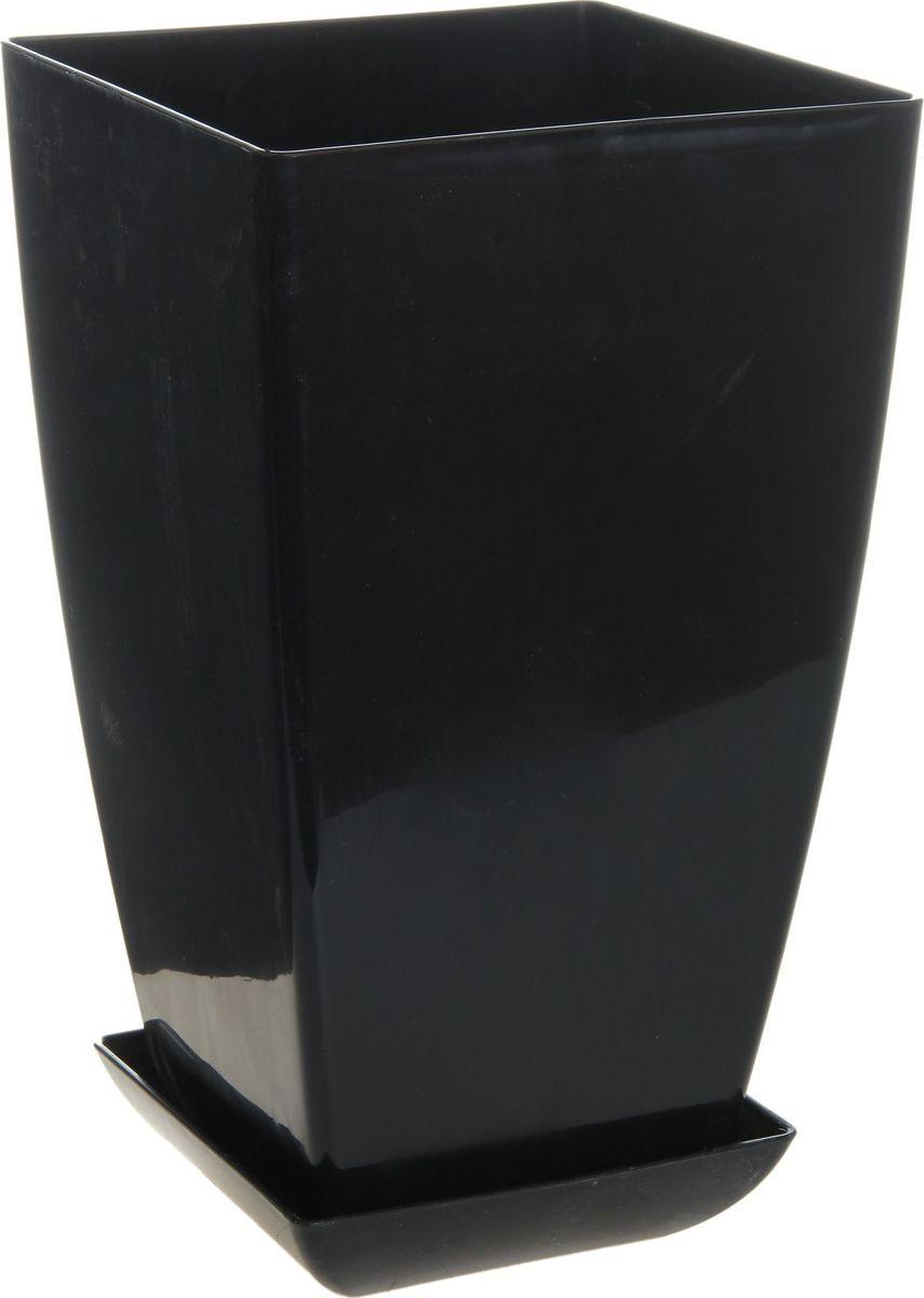 Горшок для цветов Мегапласт Квадрат, с поддоном, цвет: черный, 10 л780712Любой, даже самый современный и продуманный интерьер будет не завершенным без растений. Они не только очищают воздух и насыщают его кислородом, но и заметно украшают окружающее пространство. Такому полезному члену семьи просто необходимо красивое и функциональное кашпо, оригинальный горшок или необычная ваза! Мы предлагаем - Горшок для цветов с поддоном, 20х20 см Квадрат 10 л, цвет рубиновый перламутр! Оптимальный выбор материала - это пластмасса! Почему мы так считаем? Малый вес. С легкостью переносите горшки и кашпо с места на место, ставьте их на столики или полки, подвешивайте под потолок, не беспокоясь о нагрузке. Простота ухода. Пластиковые изделия не нуждаются в специальных условиях хранения. Их легко чистить достаточно просто сполоснуть теплой водой. Никаких царапин. Пластиковые кашпо не царапают и не загрязняют поверхности, на которых стоят. Пластик дольше хранит влагу, а значит растение реже нуждается в поливе. Пластмасса не пропускает воздух корневой системе растения не грозят резкие перепады температур. Огромный выбор форм, декора и расцветок вы без труда подберете что-то, что идеально впишется в уже существующий интерьер. Соблюдая нехитрые правила ухода, вы можете заметно продлить срок службы горшков, вазонов и кашпо из пластика: всегда учитывайте размер кроны и корневой системы растения (при разрастании большое растение способно повредить маленький горшок) берегите изделие от воздействия прямых солнечных лучей, чтобы кашпо и горшки не выцветали держите кашпо и горшки из пластика подальше от нагревающихся поверхностей. Создавайте прекрасные цветочные композиции, выращивайте рассаду или необычные растения, а низкие цены позволят вам не ограничивать себя в выборе.