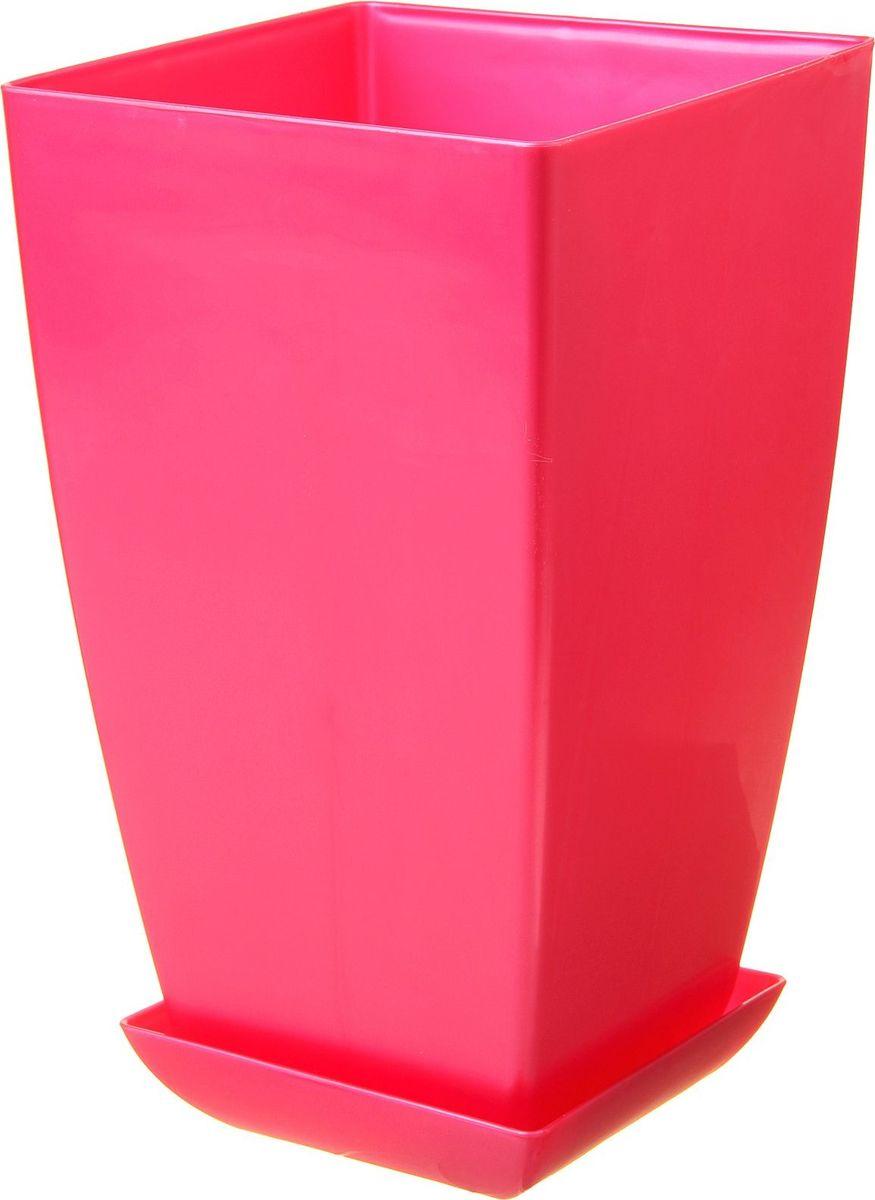 Горшок для цветов Мегапласт Квадрат, с поддоном, цвет: рубиновый перламутр, 10 л780716Горшок для цветов Мегапласт Квадрат обладает малым весом и высокой прочностью. С лёгкостью переносите горшки и кашпо с места на место, ставьте их на столики или полки, подвешивайте под потолок, не беспокоясь о нагрузке. Пластиковые изделия не нуждаются в специальных условиях хранения. Их легко чистить - достаточно просто сполоснуть тёплой водой. Пластиковые кашпо не царапают и не загрязняют поверхности, на которых стоят. Пластик дольше хранит влагу, а значит растение реже нуждается в поливе.Пластмасса не пропускает воздух, а значит, корневой системе растения не грозят резкие перепады температур. Соблюдая нехитрые правила ухода, вы можете заметно продлить срок службы горшков, вазонов и кашпо из пластика:- всегда учитывайте размер кроны и корневой системы растения (при разрастании большое растение способно повредить маленький горшок). - берегите изделие от воздействия прямых солнечных лучей, чтобы кашпо и горшки не выцветали. - держите кашпо и горшки из пластика подальше от нагревающихся поверхностей. Любой, даже самый современный и продуманный интерьер будет не завершённым без растений. Они не только очищают воздух и насыщают его кислородом, но и заметно украшают окружающее пространство. Такому полезному члену семьи просто необходимо красивое и функциональное кашпо, оригинальный горшок или необычная ваза!