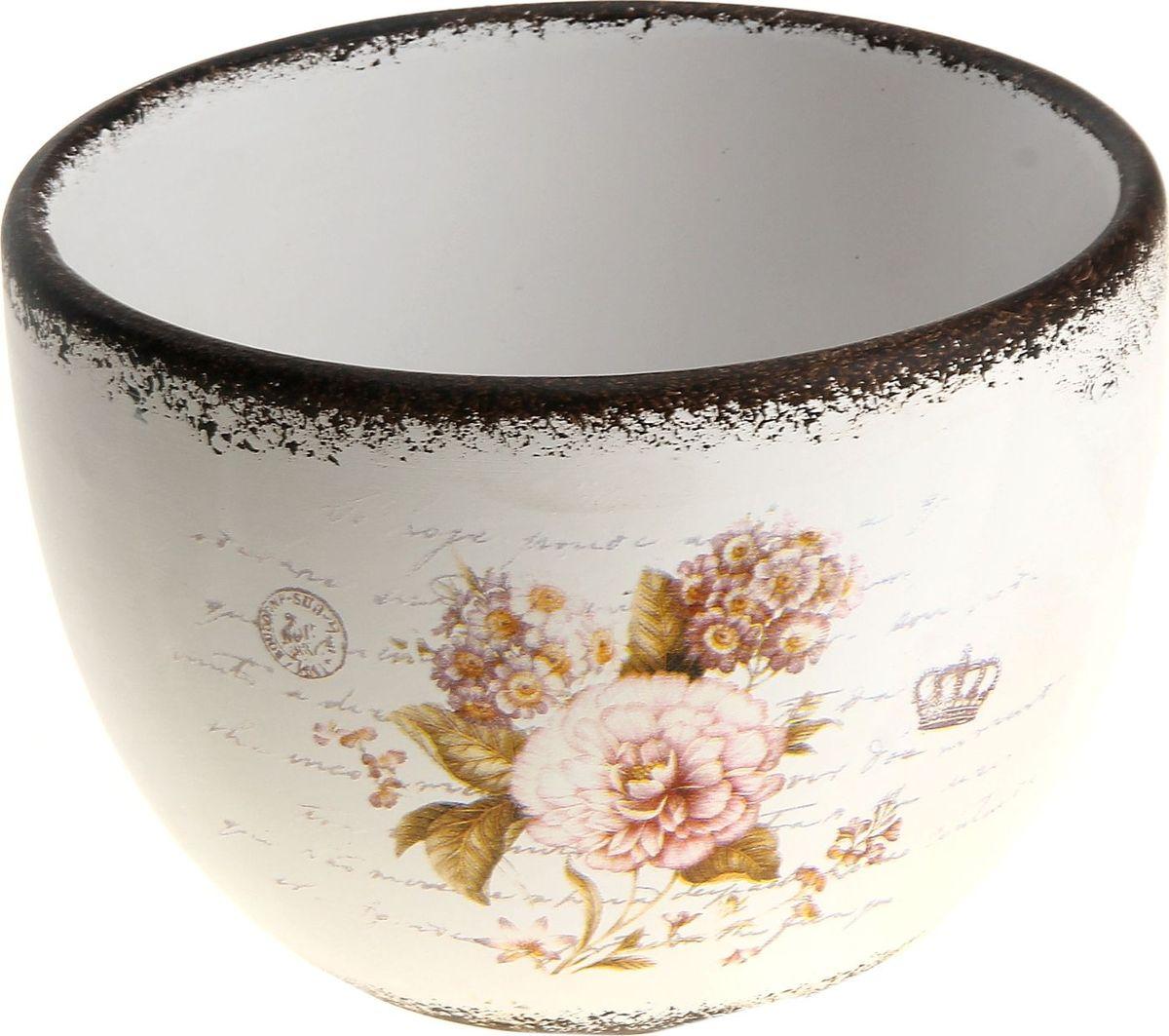 Кашпо Букет, цвет: белый, 8 х 15 х 11 см829708Комнатные растения — всеобщие любимцы. Они радуют глаз, насыщают помещение кислородом и украшают пространство. Каждому из них необходим свой удобный и красивый дом. Кашпо из керамики прекрасно подходят для высадки растений: за счёт пластичности глины и разных способов обработки существует великое множество форм и дизайновпористый материал позволяет испаряться лишней влагевоздух, необходимый для дыхания корней, проникает сквозь керамические стенки! #name# позаботится о зелёном питомце, освежит интерьер и подчеркнёт его стиль.