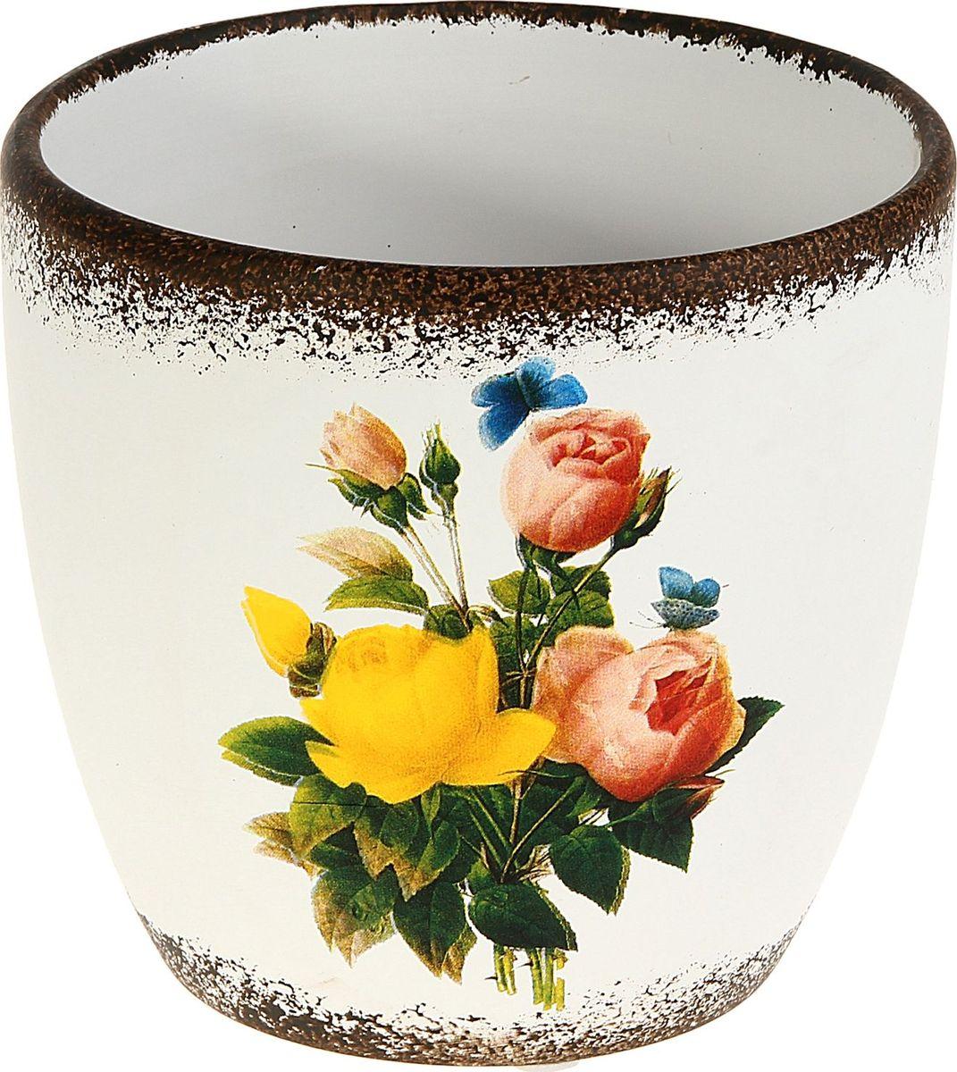 Кашпо Розы, 9 х 12 х 12 см829709Комнатные растения — всеобщие любимцы. Они радуют глаз, насыщают помещение кислородом и украшают пространство. Каждому из них необходим свой удобный и красивый дом. Кашпо из керамики прекрасно подходят для высадки растений: за счёт пластичности глины и разных способов обработки существует великое множество форм и дизайновпористый материал позволяет испаряться лишней влагевоздух, необходимый для дыхания корней, проникает сквозь керамические стенки! #name# позаботится о зелёном питомце, освежит интерьер и подчеркнёт его стиль.