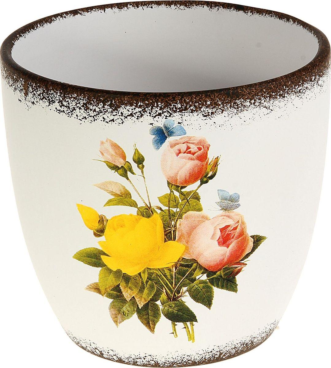 Кашпо Розы, цвет: металлик, 10 х 15 х 15 см829715Комнатные растения — всеобщие любимцы. Они радуют глаз, насыщают помещение кислородом и украшают пространство. Каждому из них необходим свой удобный и красивый дом. Кашпо из керамики прекрасно подходят для высадки растений: за счёт пластичности глины и разных способов обработки существует великое множество форм и дизайновпористый материал позволяет испаряться лишней влагевоздух, необходимый для дыхания корней, проникает сквозь керамические стенки! #name# позаботится о зелёном питомце, освежит интерьер и подчеркнёт его стиль.