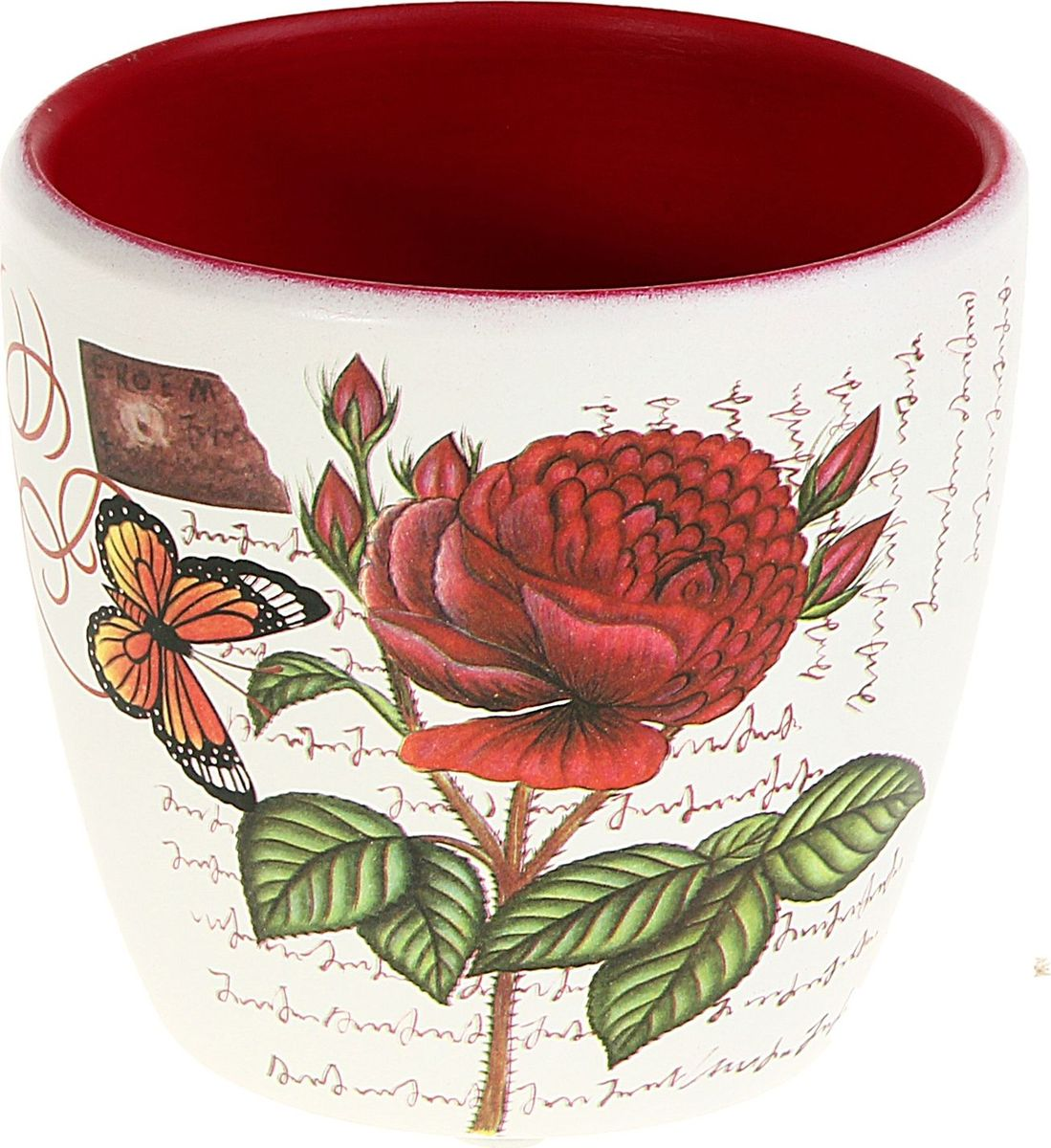 Кашпо Роза, цвет: белый, красный, 7 х 10 х 9 см829777Комнатные растения — всеобщие любимцы. Они радуют глаз, насыщают помещение кислородом и украшают пространство. Каждому из них необходим свой удобный и красивый дом. Кашпо из керамики прекрасно подходят для высадки растений: за счёт пластичности глины и разных способов обработки существует великое множество форм и дизайновпористый материал позволяет испаряться лишней влагевоздух, необходимый для дыхания корней, проникает сквозь керамические стенки! #name# позаботится о зелёном питомце, освежит интерьер и подчеркнёт его стиль.