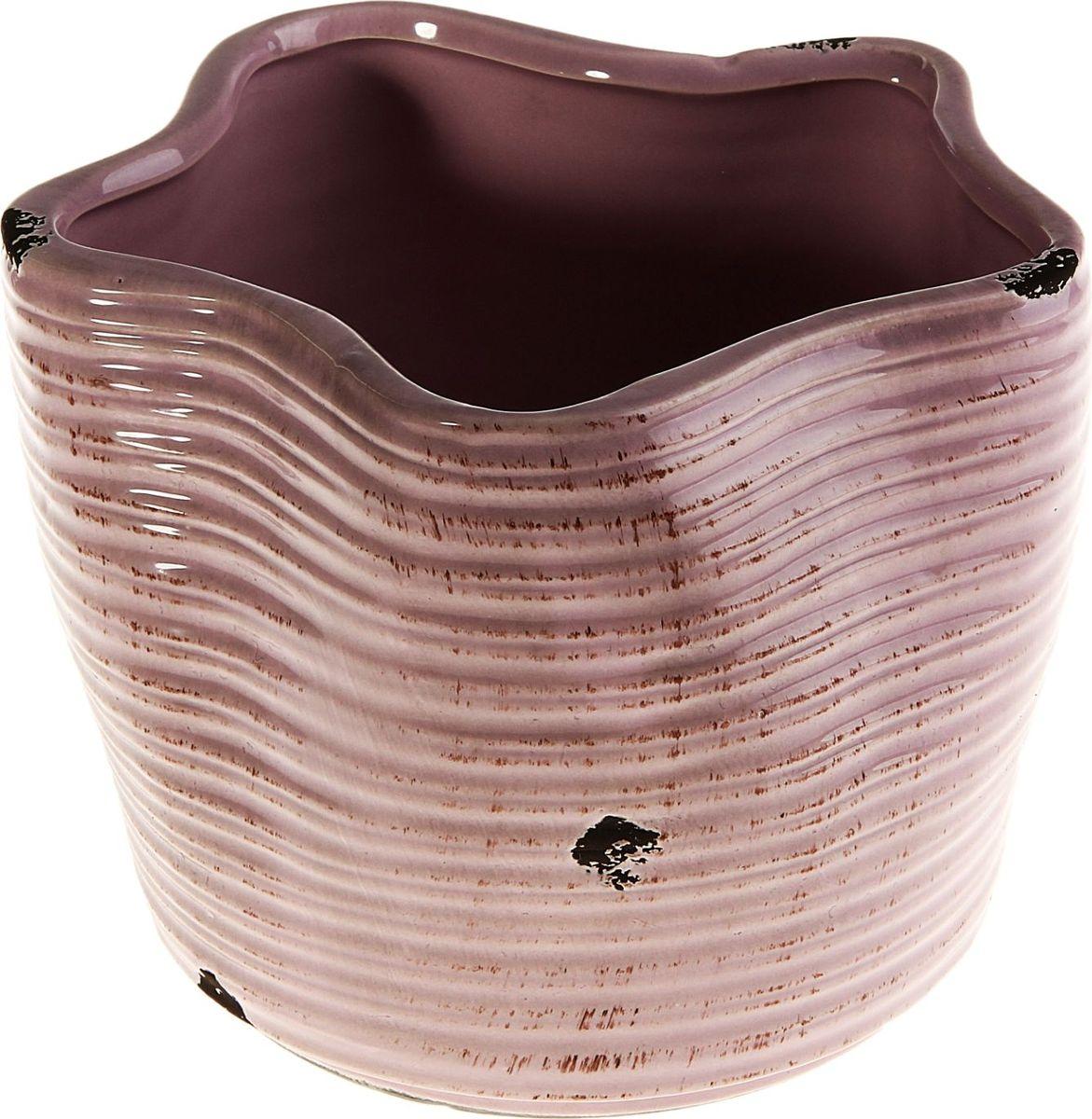 Кашпо Звезда, цвет: розовый, 1-2 л829871Комнатные растения — всеобщие любимцы. Они радуют глаз, насыщают помещение кислородом и украшают пространство. Каждому из них необходим свой удобный и красивый дом. Кашпо из керамики прекрасно подходят для высадки растений: за счёт пластичности глины и разных способов обработки существует великое множество форм и дизайновпористый материал позволяет испаряться лишней влагевоздух, необходимый для дыхания корней, проникает сквозь керамические стенки! #name# позаботится о зелёном питомце, освежит интерьер и подчеркнёт его стиль.