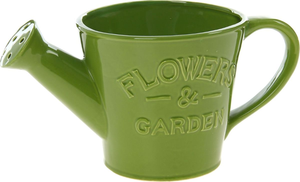 Кашпо Элегант, цвет: зеленый, 15 х 26 х 14 см829913Комнатные растения — всеобщие любимцы. Они радуют глаз, насыщают помещение кислородом и украшают пространство. Каждому из них необходим свой удобный и красивый дом. Кашпо из керамики прекрасно подходят для высадки растений: за счёт пластичности глины и разных способов обработки существует великое множество форм и дизайновпористый материал позволяет испаряться лишней влагевоздух, необходимый для дыхания корней, проникает сквозь керамические стенки! #name# позаботится о зелёном питомце, освежит интерьер и подчеркнёт его стиль.