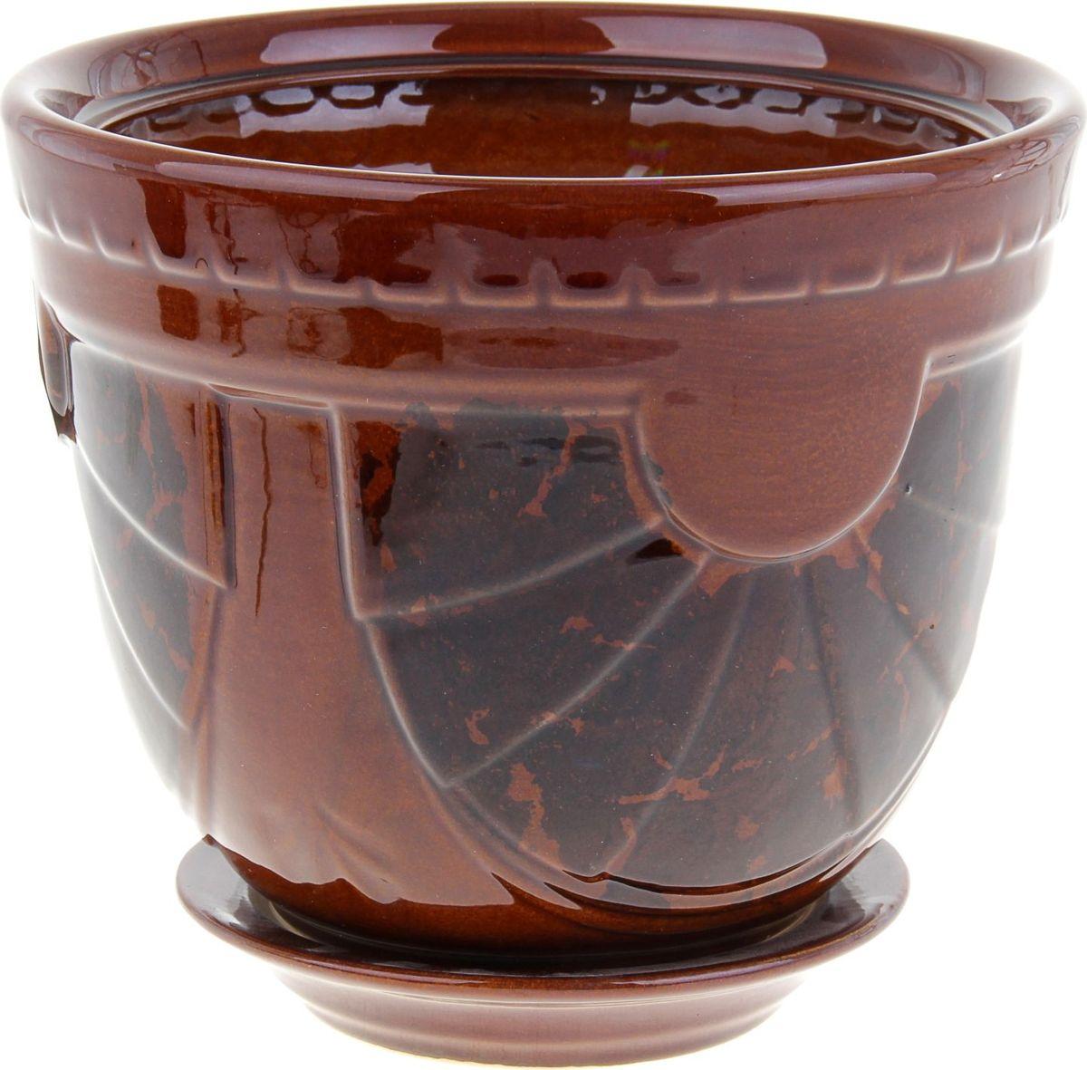 Кашпо Бастон, цвет: коричневый, 4 л838534