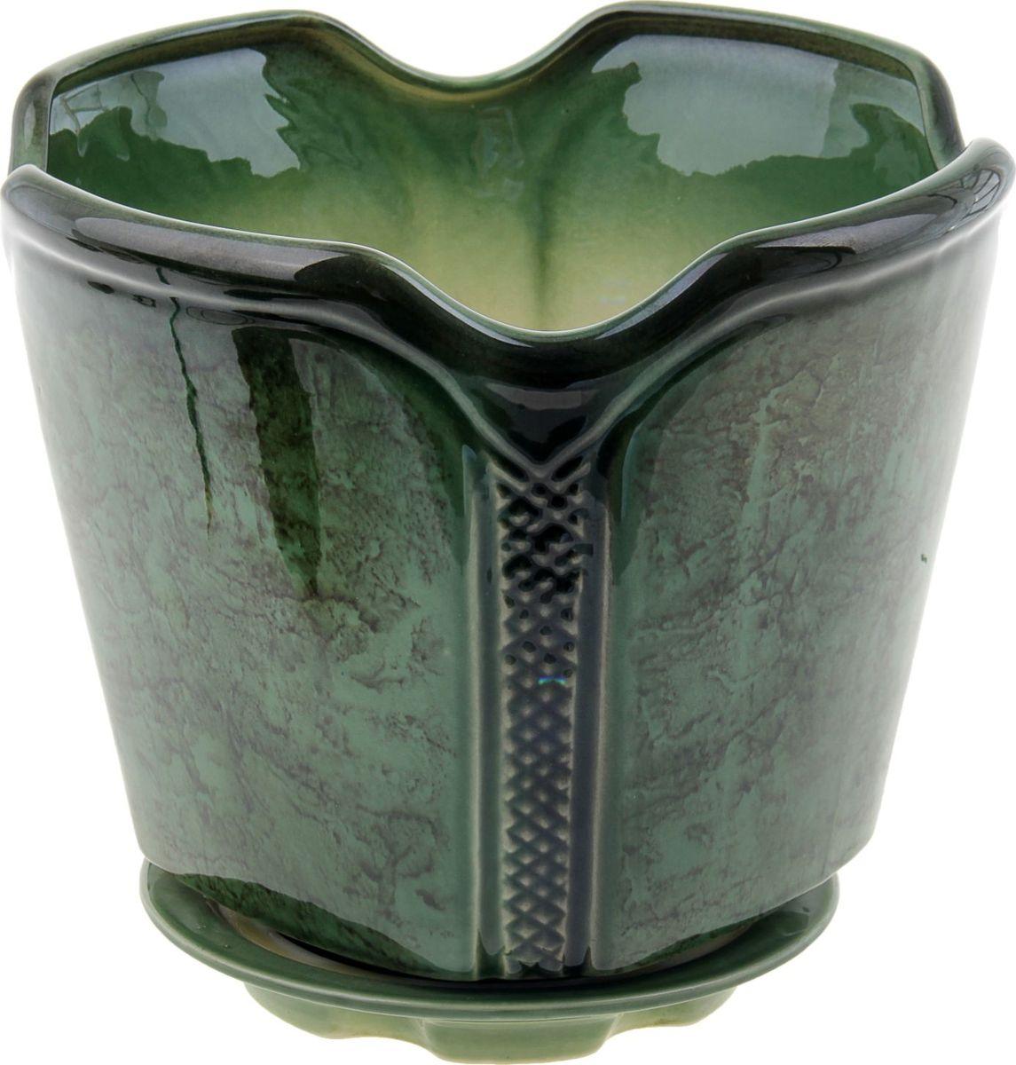 Кашпо Готика, цвет: зеленый, 7,1 л838557