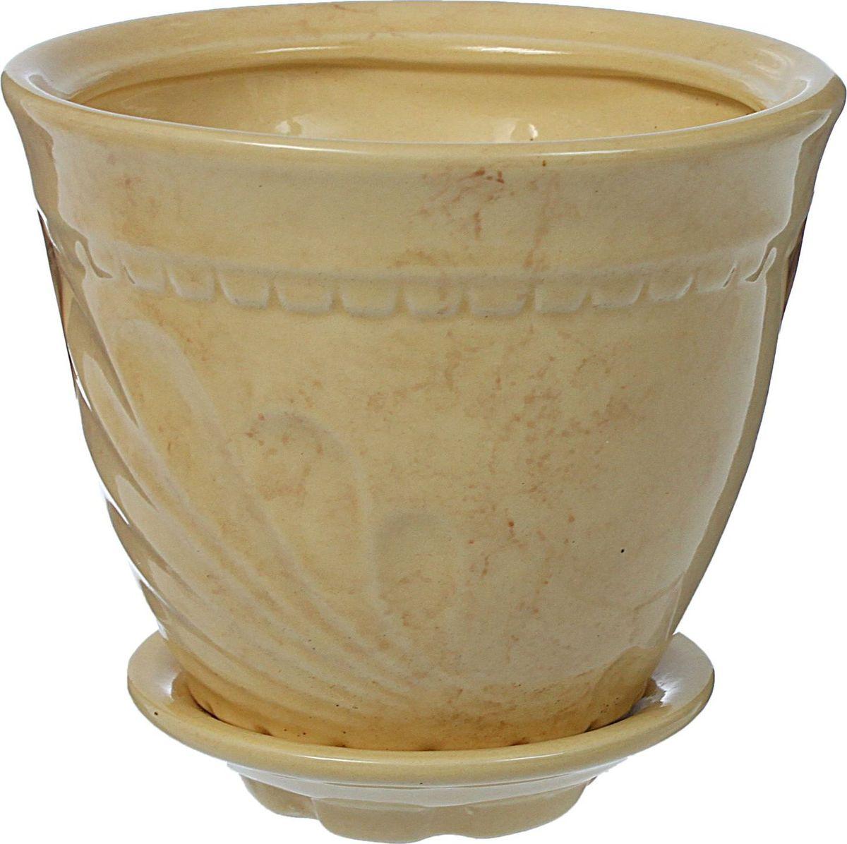 Кашпо Ландыш, цвет: бежевый, 1 л839649Комнатные растения — всеобщие любимцы. Они радуют глаз, насыщают помещение кислородом и украшают пространство. Каждому из них необходим свой удобный и красивый дом. Кашпо из керамики прекрасно подходят для высадки растений: за счёт пластичности глины и разных способов обработки существует великое множество форм и дизайновпористый материал позволяет испаряться лишней влагевоздух, необходимый для дыхания корней, проникает сквозь керамические стенки! #name# позаботится о зелёном питомце, освежит интерьер и подчеркнёт его стиль.