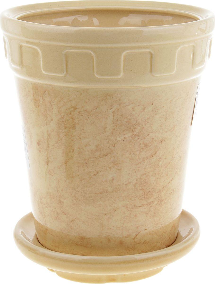 Кашпо Альфа, цвет: бежевый, 3,6 л840459Комнатные растения — всеобщие любимцы. Они радуют глаз, насыщают помещение кислородом и украшают пространство. Каждому из них необходим свой удобный и красивый дом. Кашпо из керамики прекрасно подходят для высадки растений: за счет пластичности глины и разных способов обработки существует великое множество форм и дизайнов пористый материал позволяет испаряться лишней влаге воздух, необходимый для дыхания корней, проникает сквозь керамические стенки! позаботится о зеленом питомце, освежит интерьер и подчеркнет его стиль.