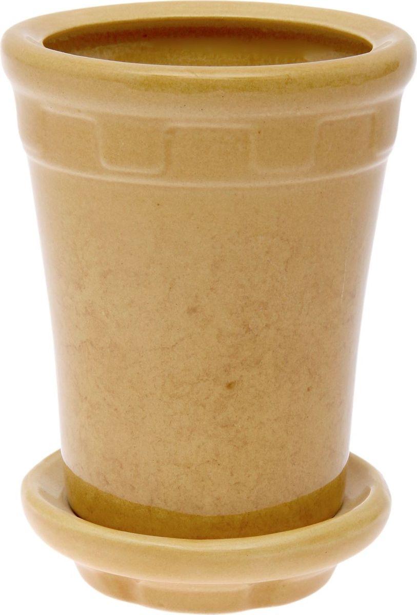 Кашпо Альфа, цвет: горчичный, 1,8 л840478Комнатные растения - всеобщие любимцы. Они радуют глаз, насыщают помещение кислородом и украшают пространство. Каждому из них необходим свой удобный и красивый дом. Кашпо из керамики прекрасно подходят для высадки растений: за счет пластичности глины и разных способов обработки существует великое множество форм и дизайнов пористый материал позволяет испаряться лишней влаге воздух, необходимый для дыхания корней, проникает сквозь керамические стенки!Кашпо Альфа позаботится о зеленом питомце, освежит интерьер и подчеркнет его стиль.