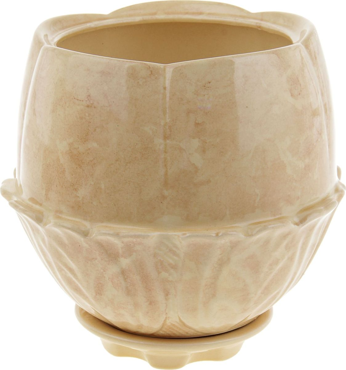 Кашпо Азалия, цвет: бежевый, 3 л840517Комнатные растения — всеобщие любимцы. Они радуют глаз, насыщают помещение кислородом и украшают пространство. Каждому из них необходим свой удобный и красивый дом. Кашпо из керамики прекрасно подходят для высадки растений: за счёт пластичности глины и разных способов обработки существует великое множество форм и дизайновпористый материал позволяет испаряться лишней влагевоздух, необходимый для дыхания корней, проникает сквозь керамические стенки! #name# позаботится о зелёном питомце, освежит интерьер и подчеркнёт его стиль.