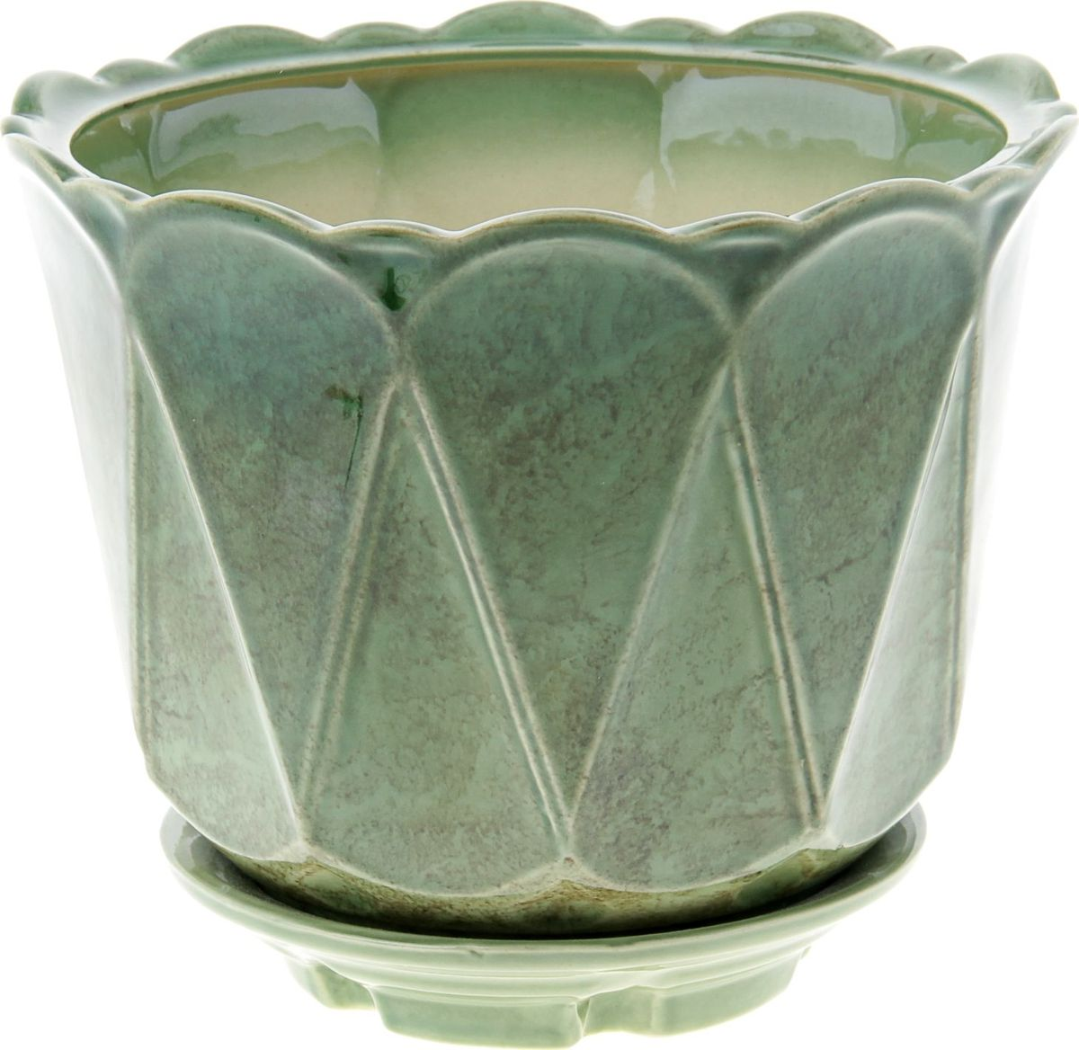 Кашпо Берта, цвет: зеленый, 3,7 л840527