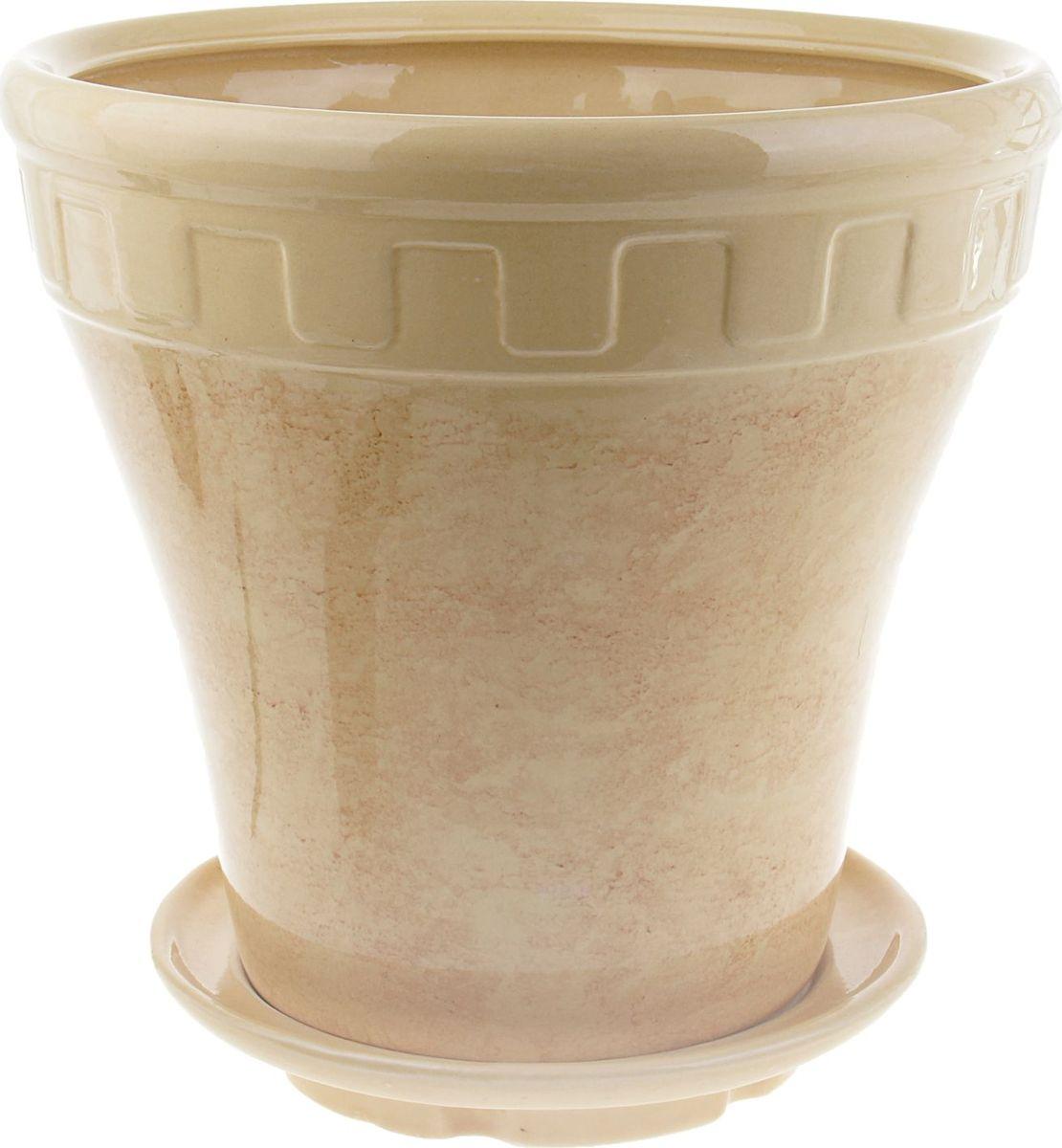 Кашпо Альфа, цвет: бежевый, 13 л840573Комнатные растения — всеобщие любимцы. Они радуют глаз, насыщают помещение кислородом и украшают пространство. Каждому из них необходим свой удобный и красивый дом. Кашпо из керамики прекрасно подходят для высадки растений: за счёт пластичности глины и разных способов обработки существует великое множество форм и дизайновпористый материал позволяет испаряться лишней влагевоздух, необходимый для дыхания корней, проникает сквозь керамические стенки! #name# позаботится о зелёном питомце, освежит интерьер и подчеркнёт его стиль.