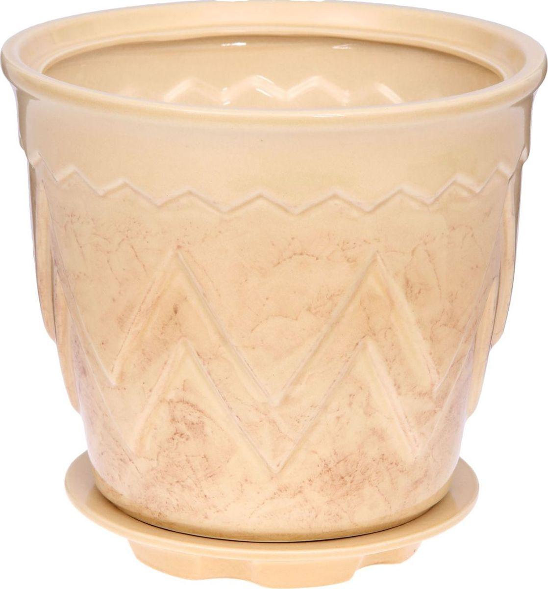 Кашпо Арго, цвет: бежевый, 6 л840806Комнатные растения — всеобщие любимцы. Они радуют глаз, насыщают помещение кислородом и украшают пространство. Каждому из них необходим свой удобный и красивый дом. Кашпо из керамики прекрасно подходят для высадки растений: за счёт пластичности глины и разных способов обработки существует великое множество форм и дизайновпористый материал позволяет испаряться лишней влагевоздух, необходимый для дыхания корней, проникает сквозь керамические стенки! #name# позаботится о зелёном питомце, освежит интерьер и подчеркнёт его стиль.