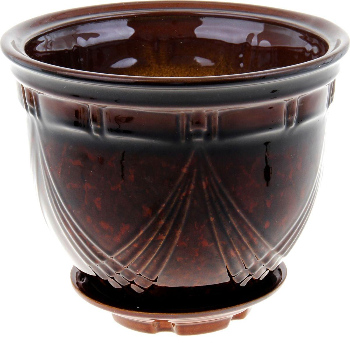 Кашпо Мирида, цвет: коричневый, 5 л840969