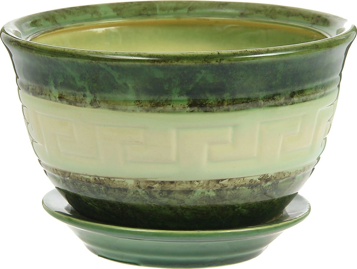 Кашпо Меандр, цвет: зеленый, 2 л840982