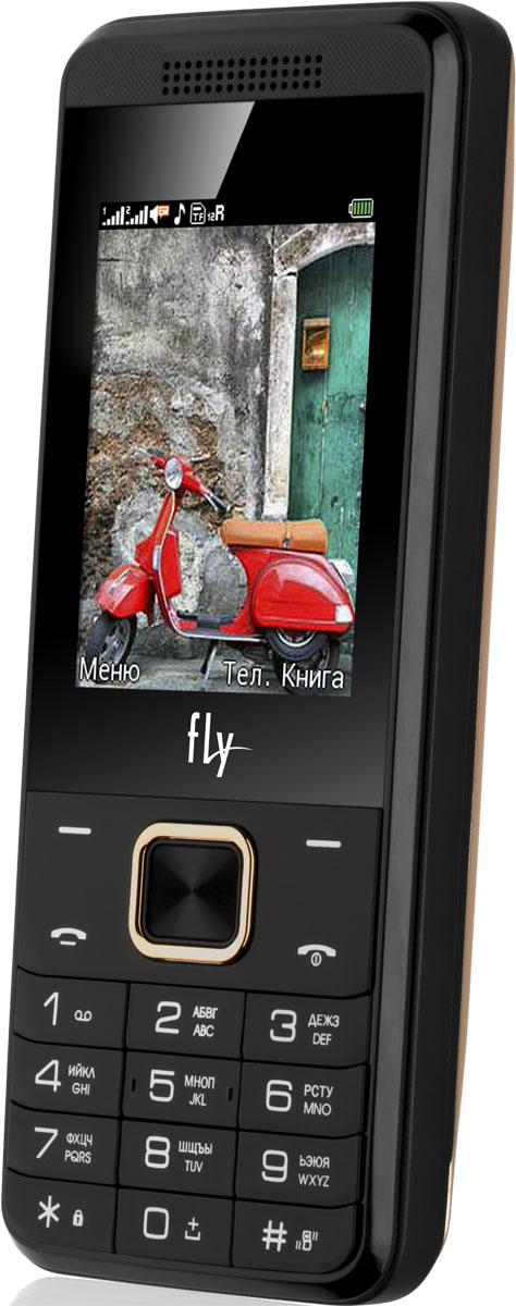 Fly FF245, Champagne9676Мобильный телефон Fly FF244 оснащен 2,4-дюймовым полноцветным дисплеем, удобным для повседневного использования. Применение технологии TN QVGA делает изображение на нем ярким и контрастным в любой ситуации.Встроенное ПО устройства позволяет воспроизводить аудио- и видеофайлы в популярных форматах, а также прослушивать любимые радиопередачи. Мультимедийные файлы можно записывать на карту памяти microSD емкостью до 32 Гб.Полного заряда мощного аккумулятора 3700 мАч хватает на 14 часов непрерывного разговора или 740 часов работы в режиме ожидания. К тому же функция Power Bank превращает телефон в удобное зарядное устройство для других мобильных устройств.Телефон оснащен камерой на 0,3 Мпикс с функцией записи видео, а также Bluetooth-модулем, предназначенным для беспроводной передачи данных.Поддержка двух SIM-карт позволяет использовать телефон в качестве личного и рабочего одновременно. Кроме того, с двумя SIM-картами можно уменьшать расходы, управляя тарифными планами различных мобильных операторов.Телефон сертифицирован EAC и имеет русифицированную клавиатуру, меню и Руководство пользователя.