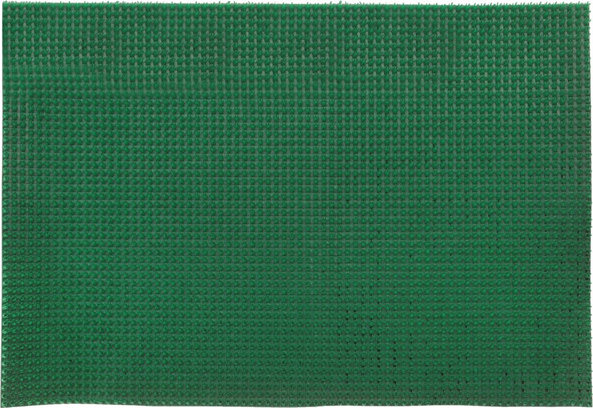 Коврик придверный InLoran, щетинистый, цвет: зеленый, 60 х 90 см40-691Коврик придверный InLoran выполнен из полиэтилена высокого давления и полипропилена. Изделие обладает щетиной в форме тюльпана, которая эффективно задерживает грязь. Такой коврик надежно защитит помещение от уличной пыли и грязи. Легко чистится и моется.