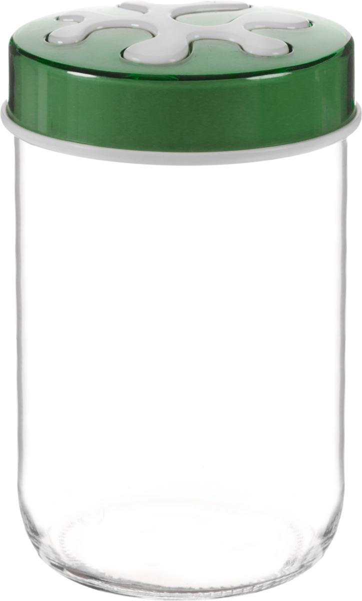 Банка для сыпучих продуктов Herevin, цвет: зеленый, прозрачный, 660 мл. 135367-205135367-205_зеленыйБанка для сыпучих продуктов Herevin выполнена из высококачественного прочного стекла. Изделие снабжено плотно закручивающейся пластиковой крышкой с рисунком. Прозрачные стенки позволяют видеть содержимое. Такая банка отлично подойдет для хранения различных сыпучих продуктов: ягод, орехов, чая, кофе, специй.Диаметр банки: 9 см.Высота банки: 14 см.