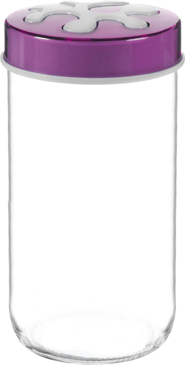 Банка для сыпучих продуктов Herevin, цвет: фиолетовый, прозрачный, 1 л. 135377-500135377-500_фиолетовыйБанка для сыпучих продуктов Herevin выполнена из высококачественного прочного стекла. Изделие снабжено плотно закручивающейся пластиковой крышкой с рисунком. Прозрачные стенки позволяют видеть содержимое. Такая банка отлично подойдет для хранения различных сыпучих продуктов: орехов, сухофруктов, чая, кофе, специй. Диаметр банки: 9 см. Высота банки: 18 см.
