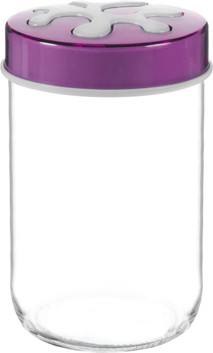 Банка для сыпучих продуктов Herevin, цвет: фиолетовый, прозрачный, 660 мл. 135367-205135367-205_фиолетовыйБанка для сыпучих продуктов Herevin выполнена из высококачественного прочного стекла. Изделие снабжено плотно закручивающейся пластиковой крышкой с рисунком. Прозрачные стенки позволяют видеть содержимое. Такая банка отлично подойдет для хранения различных сыпучих продуктов: ягод, орехов, чая, кофе, специй. Диаметр банки: 9 см. Высота банки: 14 см.