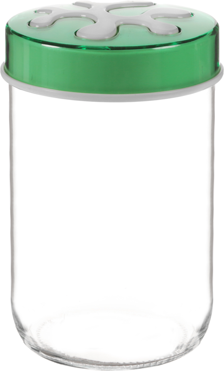 Банка для сыпучих продуктов Herevin, цвет: зеленый, прозрачный, 660 мл. 135367-500135367-500_зеленыйБанка для сыпучих продуктов Herevin выполнена из высококачественного прочного стекла. Изделие снабжено плотно закручивающейся пластиковой крышкой с рисунком. Прозрачные стенки позволяют видеть содержимое. Такая банка отлично подойдет для хранения различных сыпучих продуктов: орехов, сухофруктов, чая, кофе, специй. Диаметр банки: 9 см. Высота банки: 14 см.