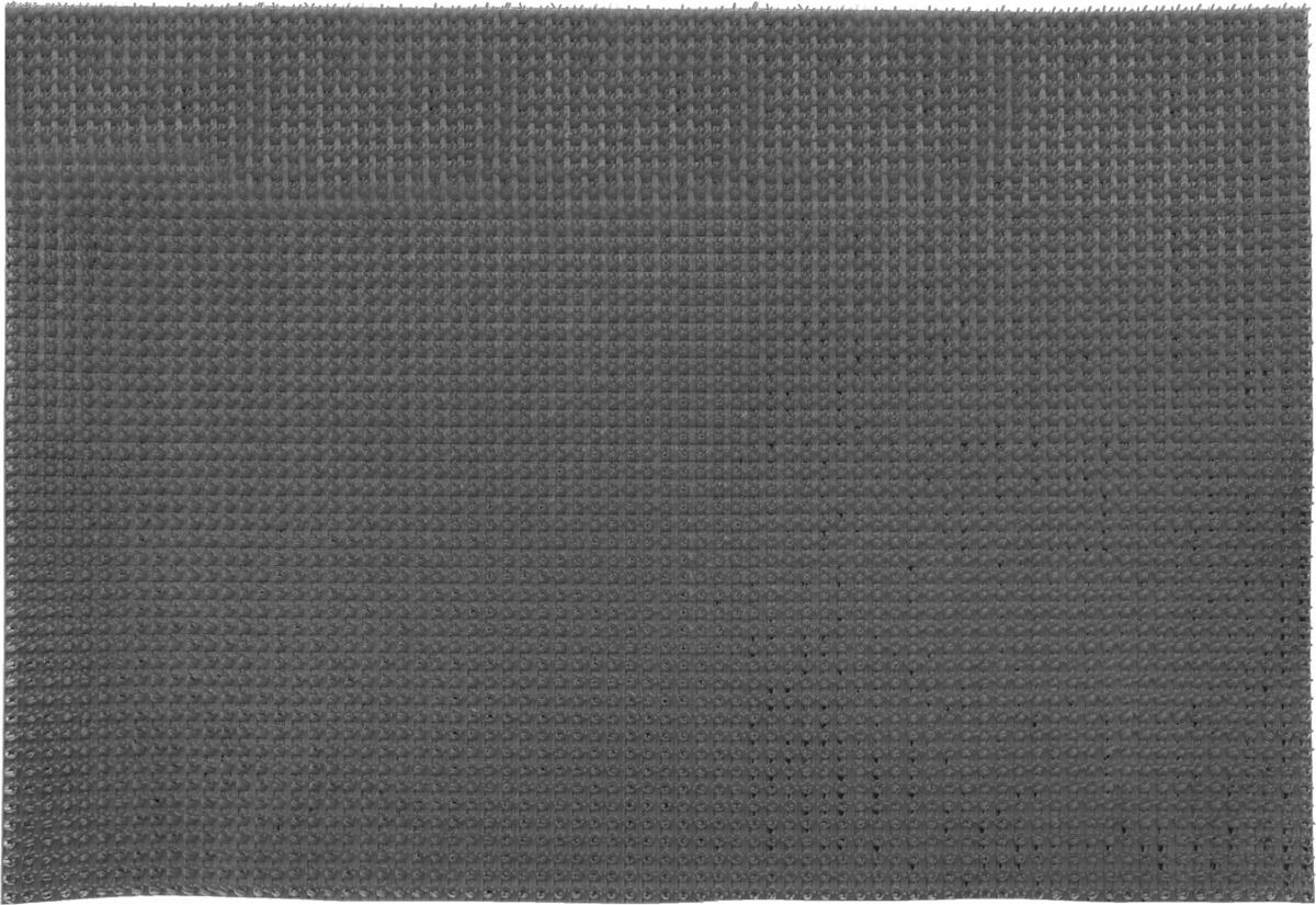 Коврик придверный InLoran, щетинистый, цвет: мокрый асфальт, 60 х 90 см40-694/12127Коврик придверный InLoran выполнен из полиэтилена высокого давления и полипропилена. Изделие обладает щетиной в форме тюльпана, которая эффективно задерживает грязь. Такой коврик надежно защитит помещение от уличной пыли и грязи. Легко чистится и моется.