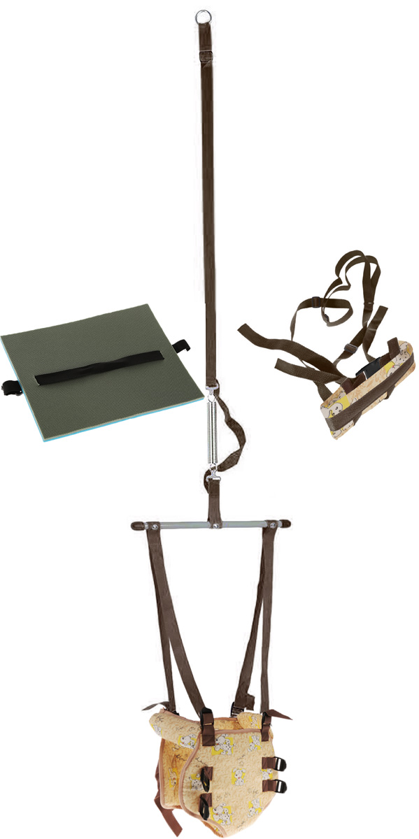 Фея Тренажер-прыгунки 4 в 1 цвет коричневый бежевый -  Ходунки, прыгунки, качалки