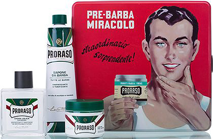 Proraso Набор для бритья Gino: крем до бритья, 100 мл, крем для бритья, 150 мл, бальзам после бритья, 100 мл400359В набор входит: Крем до бритья освежающий 100 мл, Крем для бритья освежающий 150 мл, Бальзам после бритья освежающий 100 мл