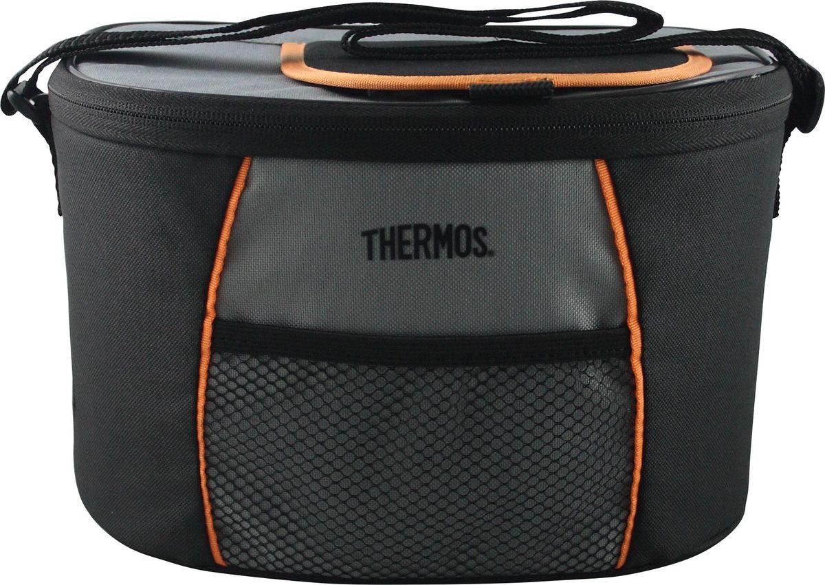 Сумка-термос Thermos E5 6 Can Cooler, цвет: черный, серый, 4,5 л490292Сумка-термос Thermos E5 6 Can Cooler отличается легкостью и компактностью. Сумка складывается и фиксируется в сложенном положении что облегчает хранение. Внутреннее наполнение стенок позволяет сохранять продукты замороженными, свежими или теплыми длительное время. Внутренняя поверхность обладает 100% герметичностью. При перевозке жидкостей это позволяет избежать протеканий.Объем: 4,5 л.