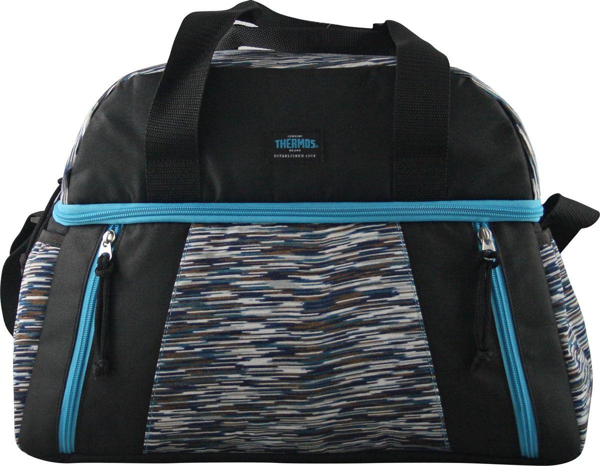 Термосумка Thermos Studio Fitness Duffle Bag, цвет: голубой, 15 л538710Сумка-термос Thermos Studio Fitness Duffle Bag прекрасно подойдет для путешествий, она отличается легкостью и компактностью. В ней поместятся не только контейнеры с пищей, но и бутылки с жидкостью. Сумка складывается и фиксируется в сложенном положении, что облегчает хранение. Внутреннее наполнение стенок позволяет сохранять продукты замороженными, свежими или теплыми длительное время. Внутренняя поверхность обладает 100% герметичностью. При перевозке жидкостей это позволяет избежать протеканий. Внешняя ткань устойчива к загрязнениям и легка в уходе. Сумка имеет прочные ручки и удобную молнию для быстрого доступа к содержимому.
