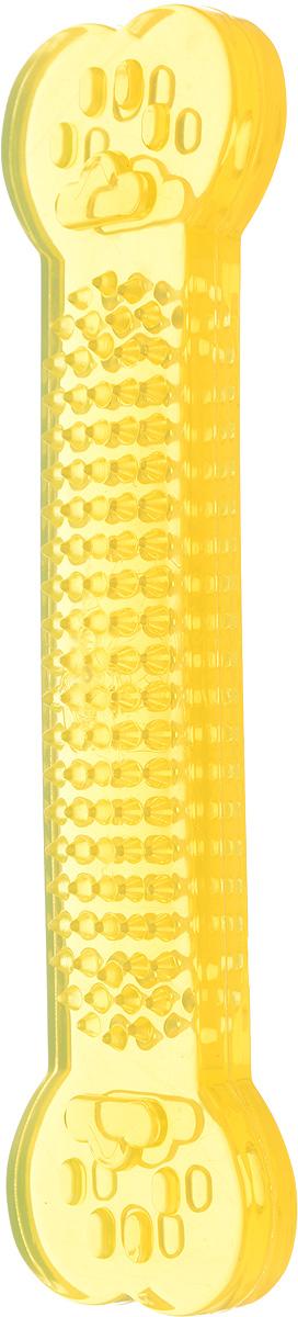 Игрушка для собак Каскад Кость шипованная, для чистки зубов, цвет: желтый, длина 16 см27799330_желтыйИгрушка для собак Каскад Кость шипованная, изготовленная из резины в виде косточки, обязательно понравится вашей собаке. Игрушка снабжена специальными шипами, которые помогают эффективно очищать зубы и массировать десны. Игрушка отличается прочностью и эластичностью.