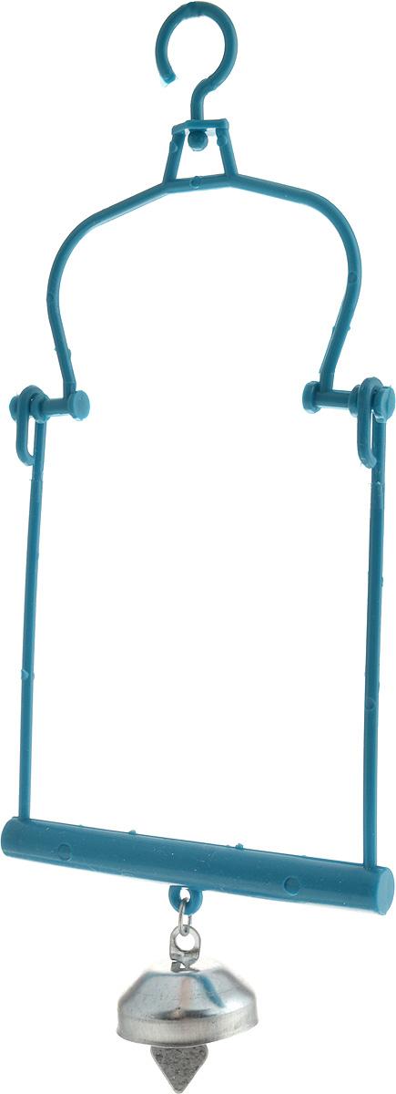 Качели для птиц Каскад, с колокольчиком, 9,5 х 14,5 х 0,5 см игрушка для животных каскад барабан с колокольчиком 4 х 4 х 4 см