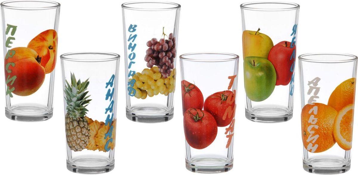 Набор стаканов для сока Декостек Фрукты, 200 мл, 6 шт1476983Стаканы Декостек Фрукты изготовлены из качественного стекла и предназначены для соков и холодных напитков. Каждый стакан из набора оформлен индивидуальным ярким рисунком. От качества посуды зависит не только вкус еды, но и здоровье человека. С такой посудой сервировка стола превратится в настоящий праздник.Набор соответствует российским стандартам качества. Объем стаканов: 200 мл.