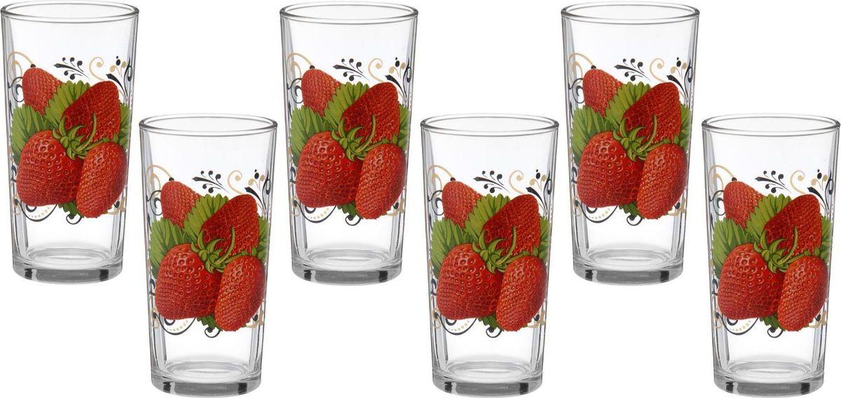 Набор стаканов для сока Декостек Ягоды, 200 мл, 6 шт набор стопок декостек ода орел 50 мл 1599342