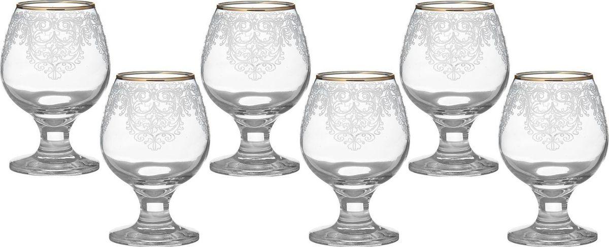 Набор бокалов для бренди Декостек Византия, 250 мл, 6 шт. 1599302 набор 6 бокалов для бренди с рисунком русский узор 400 мл