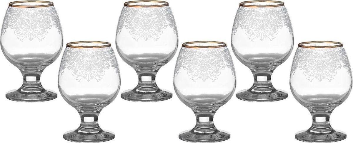 Набор бокалов для бренди Декостек Боярский, 250 мл, 6 шт. 1599303 набор 6 бокалов для бренди с рисунком русский узор 400 мл