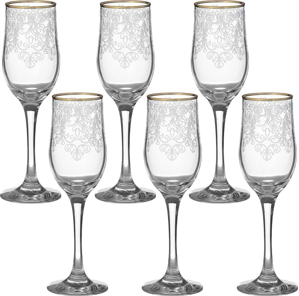 Набор бокалов для шампанского Декостек Византия, 200 мл, 6 шт. 1599306 набор бокалов для бренди коралл 40600 q8105 400 анжела