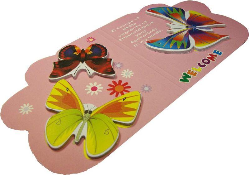 Карамба Набор стикеров 3 бабочки на розовом фоне 15 шт4126Набор стикеров Карамба выполнен в виде 3 видов бабочек, каждая из которых состоит из 10-20 листочков.