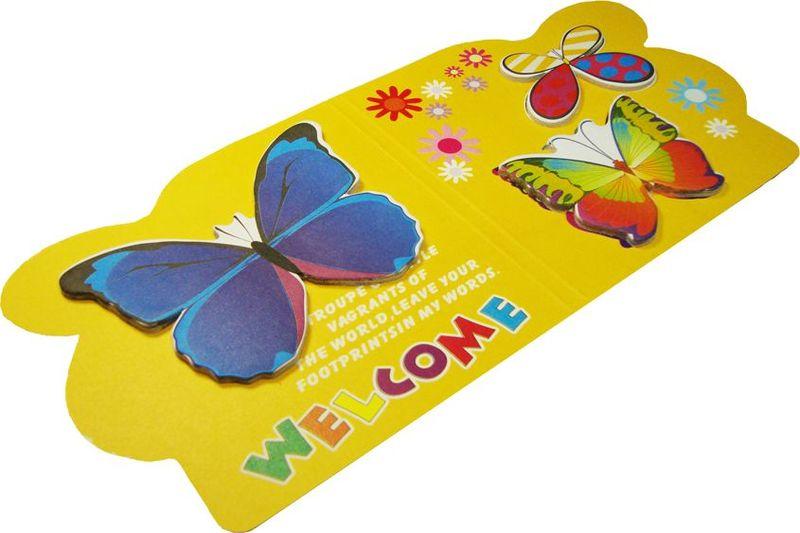Карамба Набор стикеров 3 бабочки на желтом фоне 15 шт004235Набор стикеров Карамба выполнен в виде 3 видов бабочек, каждая из которых состоит из 10-20 листочков.