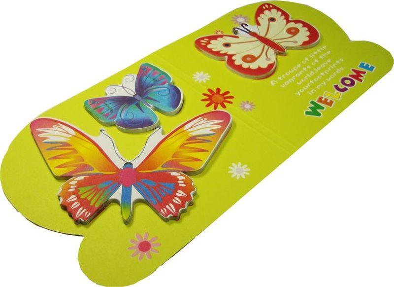 Карамба Набор стикеров 3 бабочки на зеленом фоне 15 шт004774Набор стикеров Карамба выполнен в виде 3 видов бабочек, каждая из которых состоит из 10-20 листочков.