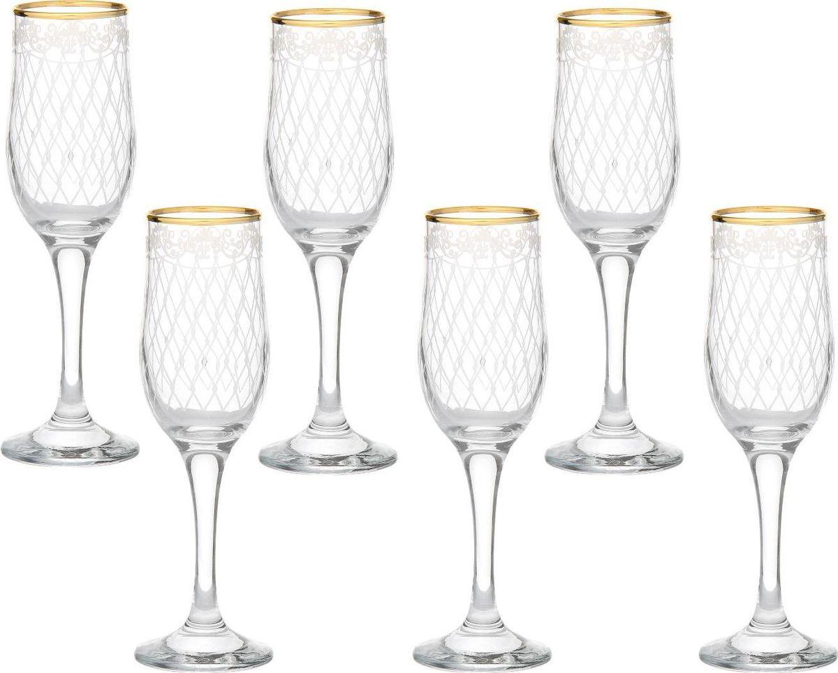 Набор бокалов для шампанского Декостек Винтаж, 200 мл, 6 шт. 1781338 набор бокалов для бренди коралл 40600 q8105 400 анжела