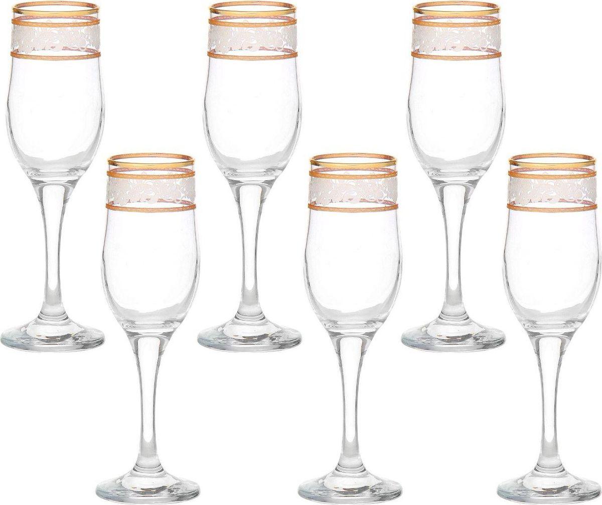 Набор бокалов для шампанского Декостек Люкс, 200 мл, 6 шт. 1781339 набор бокалов для бренди коралл 40600 q8105 400 анжела