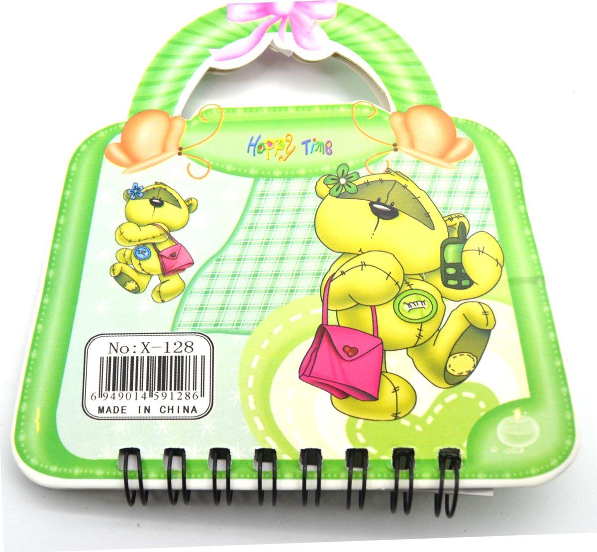 Карамба Блокнот Мишка на сумочке 50 листов в линейку цвет зеленый блокнот index in0103 a550 a5 50 листов в ассортименте