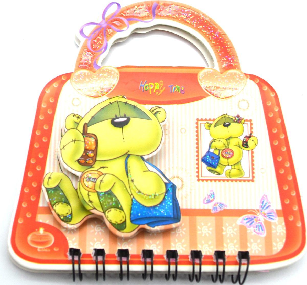 Карамба Блокнот Мишка на сумочке 50 листов в линейку цвет красный жукова ю ред бемби